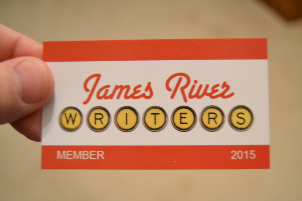 My James River Writers membership card.