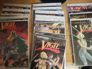 My collection of Vigil comic books.