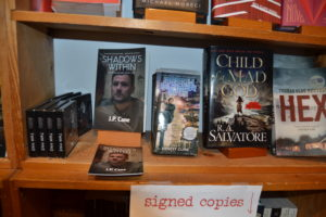 My novel Shadows Within on display at Fountain Bookstore!