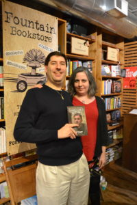 With Kelly Justice, owner of Fountain Bookstore and my book, Shadows Within.